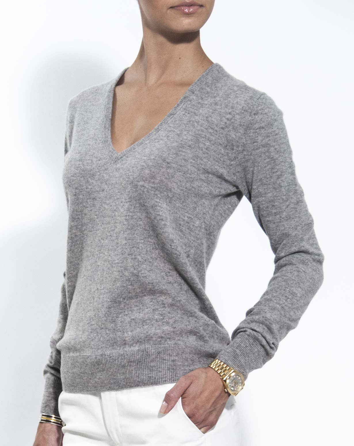 cashmere jumpers ladiesu0027 pure cashmere v-neck jumper mhanure