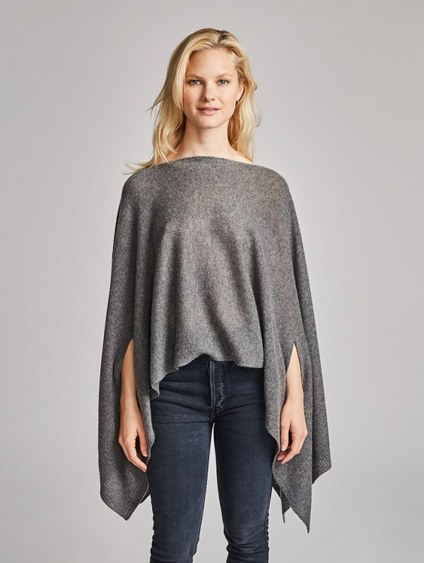 Discover ultimate relaxation with warm and soft cashmere poncho!