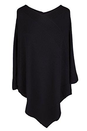 Cashmere poncho love cashmere womenu0027s 100% cashmere poncho - black - made in scotland by cbcvrrj
