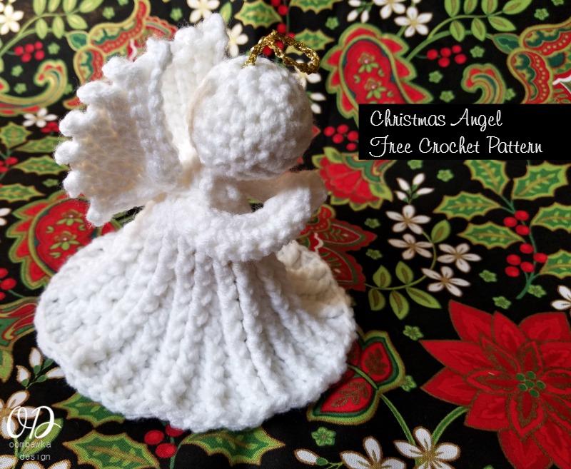 christmas crochet patterns christmas angel free pattern oombawka design pcmamkk