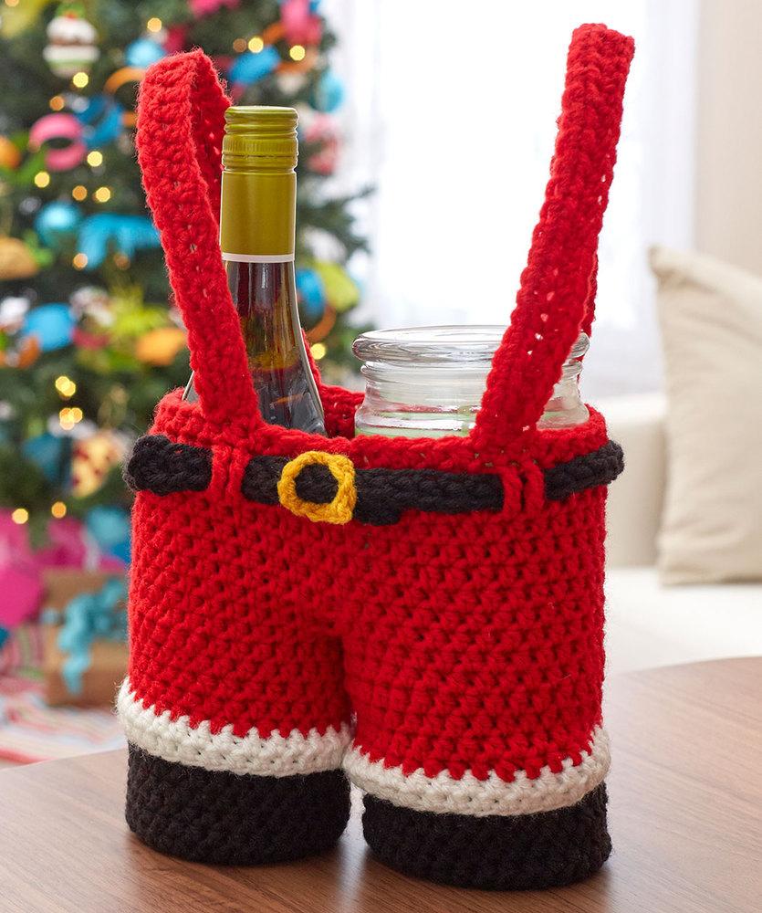 christmas crochet santa gift pants holder kurygpb