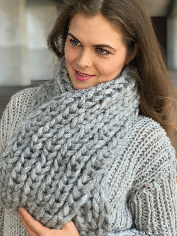 chunky knit scarf scarves handmade. livemaster - handmade. buy the scarf is voluminous, chunky  knit, syktamp