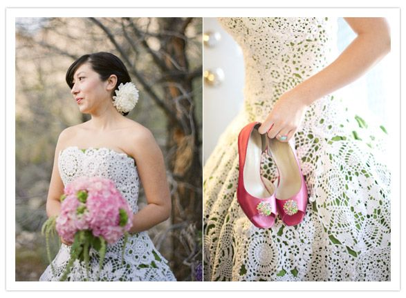 cream over green crochet wedding dress zyllena