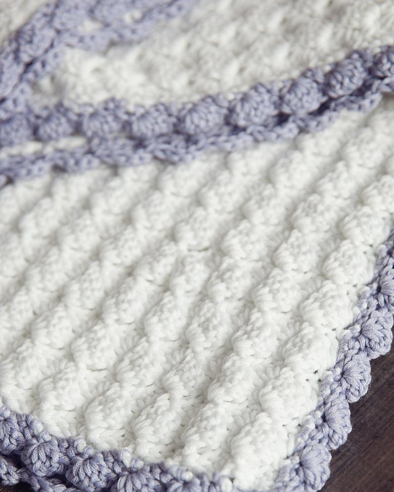 Crochet Baby Blanket Patterns vintage chic free crochet baby blanket pattern - leelee knits gluwsxp