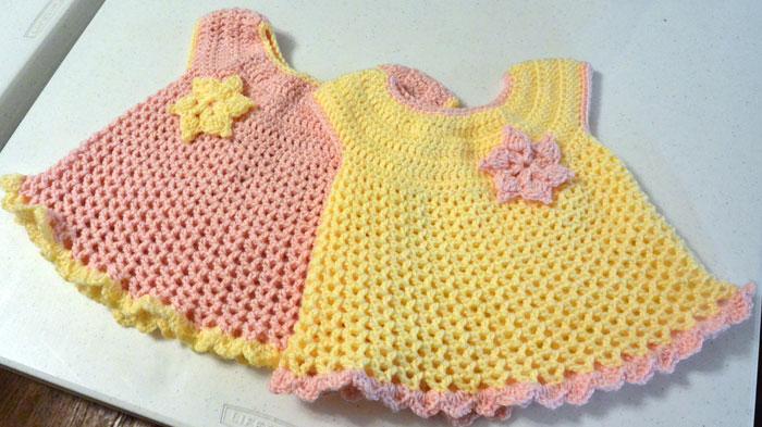 crochet baby dress little sweetie dresses, crocheted by jeanne cxayvns