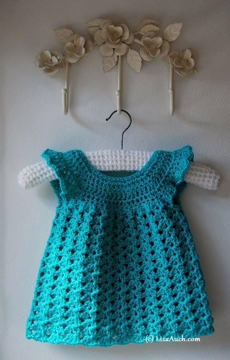 Crochet Baby Dress Pattern beautiful easy crocheted baby dress tfvuksh