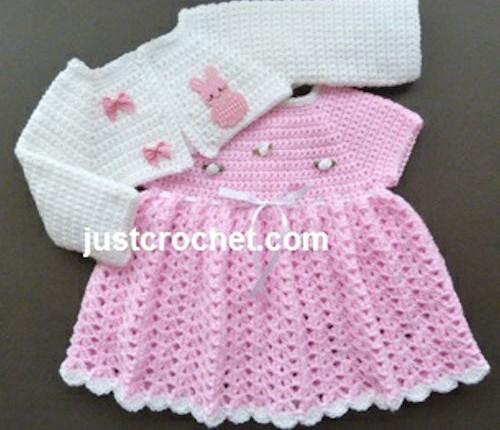 Crochet Baby Dress Pattern ... crochet pattern: pink perfection dress free avpeoey