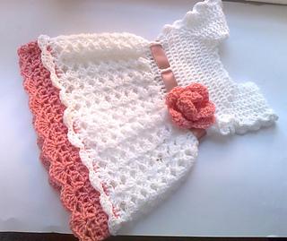 Crochet Baby Dress Pattern ravelry: pretty crochet baby dress pattern by andree tünde jcjayms
