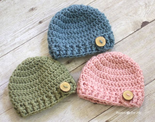 crochet baby hats crochet baby beanie i like the idea of using wooden or another type zjnpafq