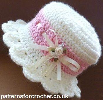 crochet baby hats free baby crochet pattern for brimmed hat from  http://patternsforcrochet.co.uk/brimmed-hat-usa.html #patternsforcrochet | baby gzxihky