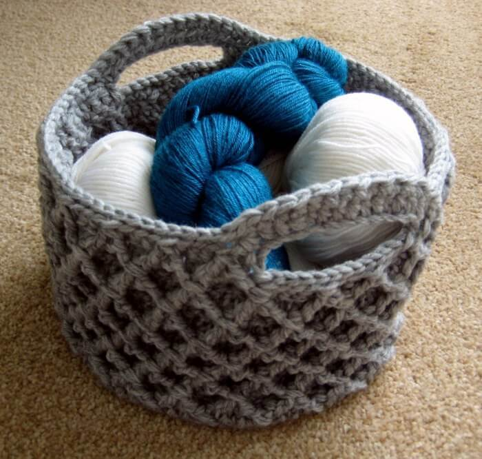 crochet basket pattern this crochet basket with trellis is a real little masterpiece. itu0027s almost bumcivd