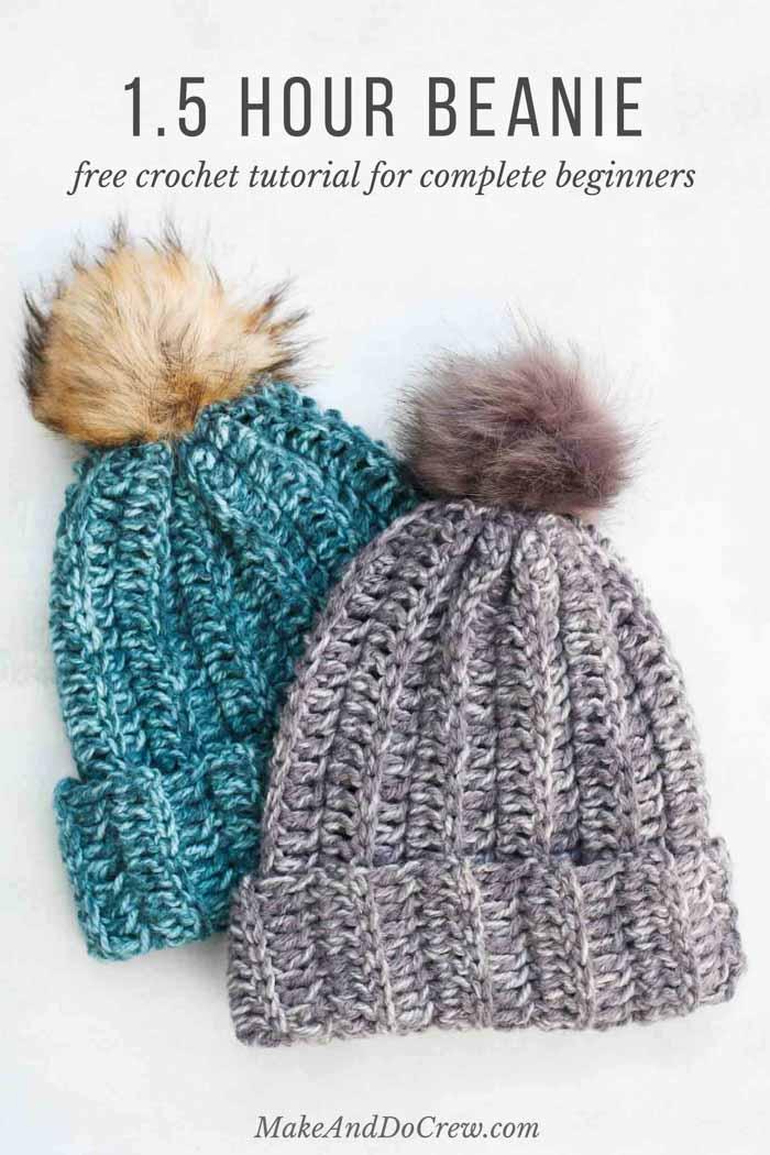 Crochet Beanie Pattern crochet a hat in an hour! this free crochet hat pattern for beginners upaweur