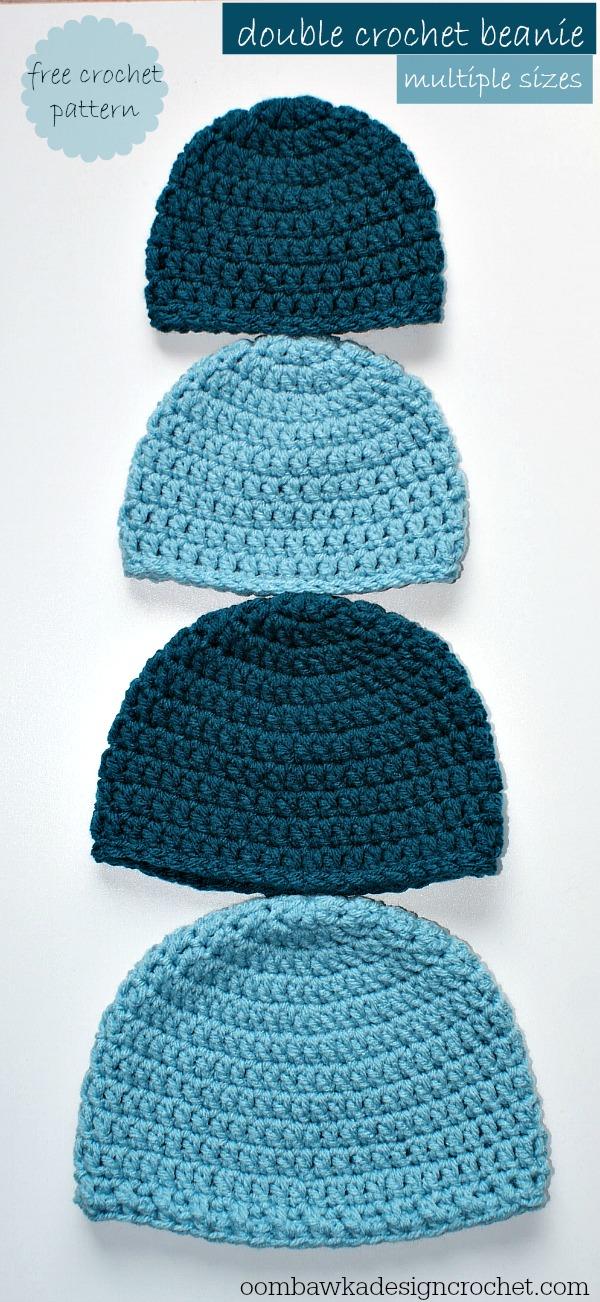 Crochet Beanie Pattern simple double crochet hat - a free crochet pattern sizes: preemie to adult lpyhwwi