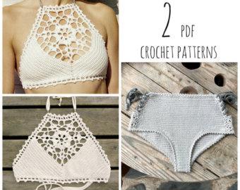 crochet bikini pattern pdf-files for 2 crochet patterns: venus crop top and aliyah crochet bikini mjhkzuf