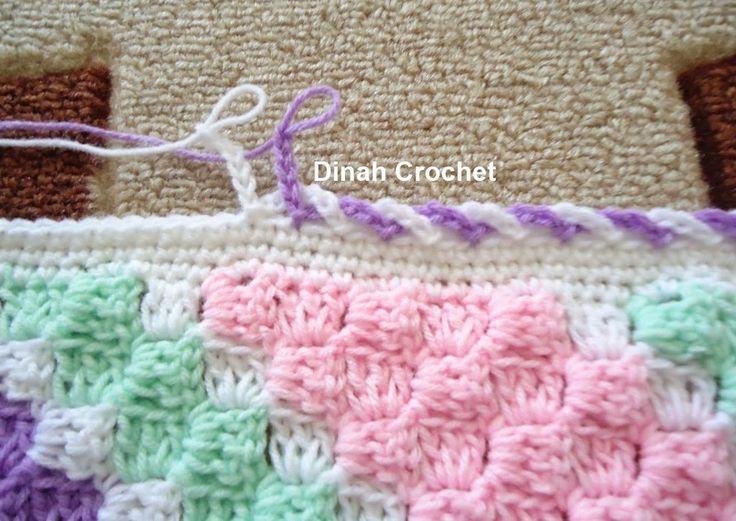 crochet blanket edging dinah crochet: c2c baby blanket....edging ch 6 skip 1 stitch xokgcoy
