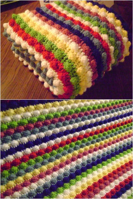 Crochet Blanket Patterns blackberry salad striped afghan lcxmyzm