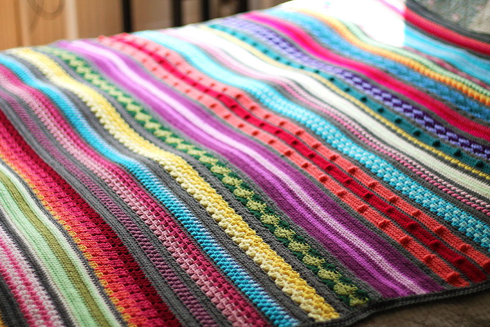 Crochet Blanket Patterns rainbow sampler crochet blanket pattern smjkqmh