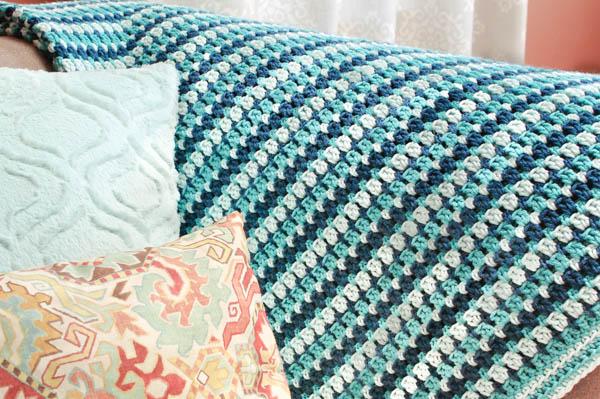 Crochet Blanket Patterns sea glass crochet afghan pattern | www.petalstopicots.com | #crochet #afghan wtfxoli