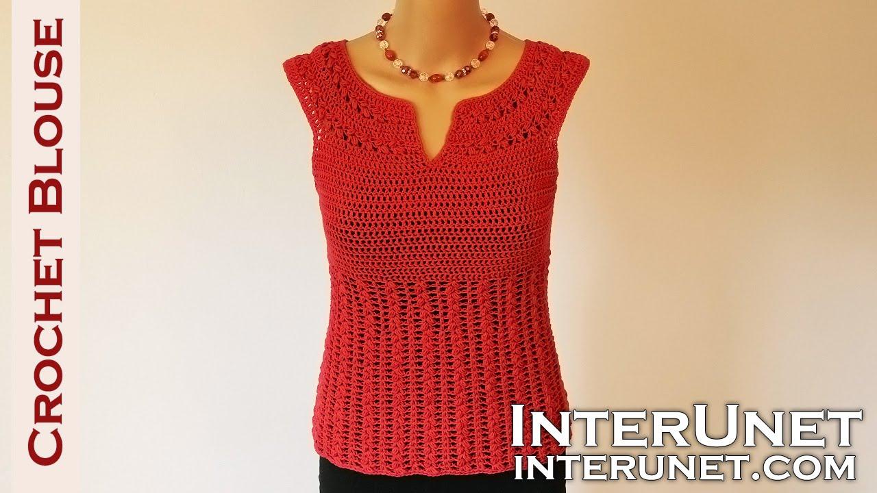 crochet blouse - red sage stitch summer top crochet pattern - youtube goapsku