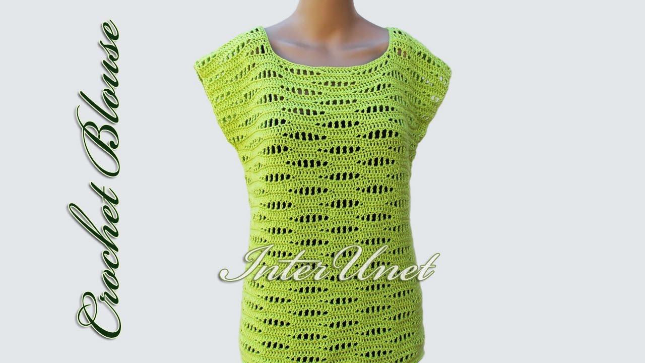 crochet blouse - sleeveless pullover top crochet pattern emjvfbj