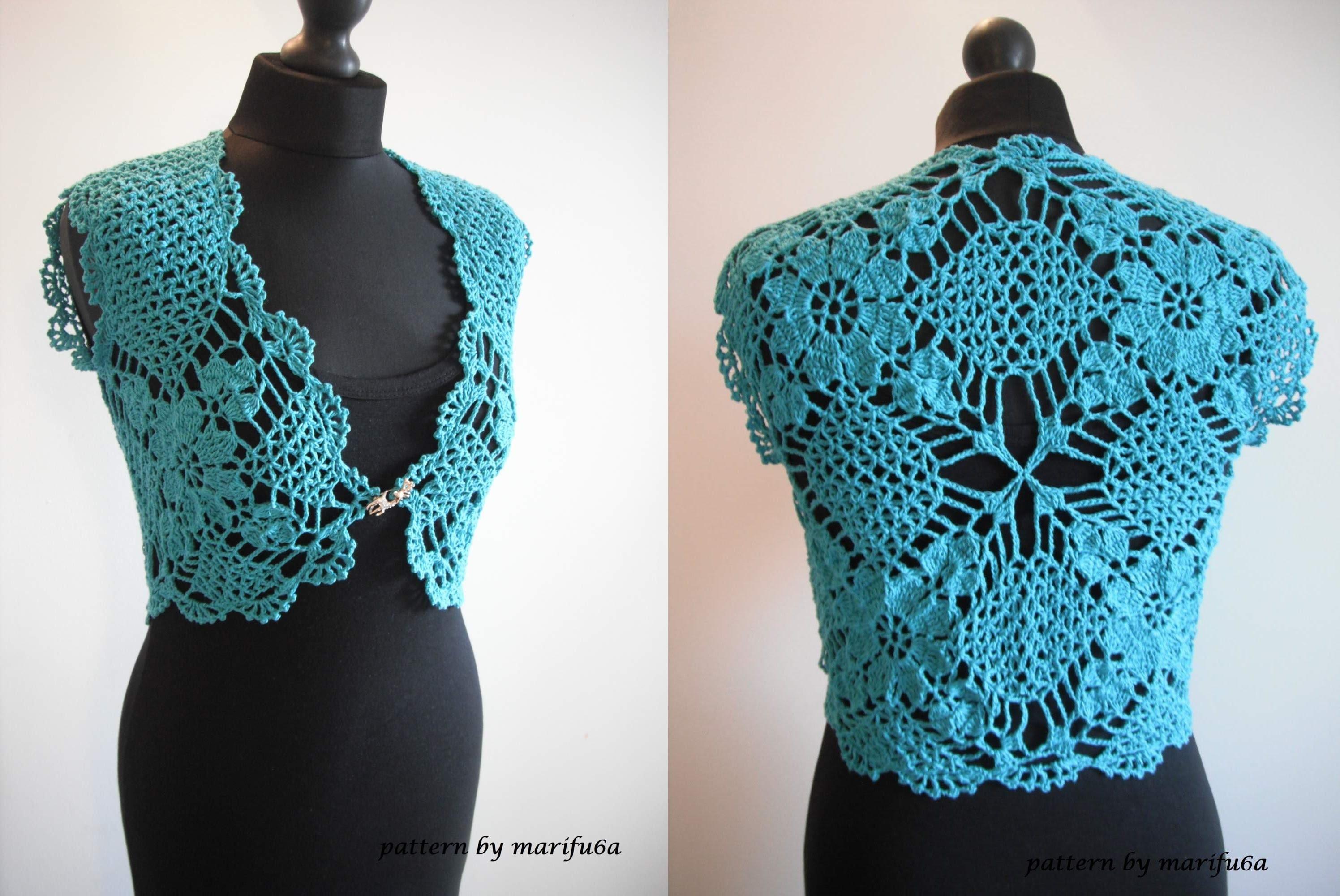 crochet bolero how to crochet mint bolero shrug chaleco free pattern tutorial by marifu6a kfwauef