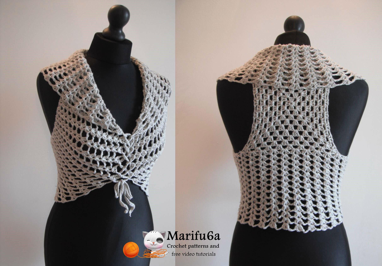 crochet bolero how to crochet vest bolero shrug, chaleco, for beginners para principiantes  free outunif