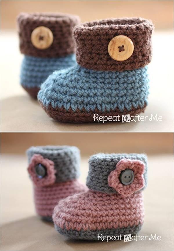 crochet booties 40+ adorable and free crochet baby booties patterns --u003e crochet cuffed baby bwpiyfw