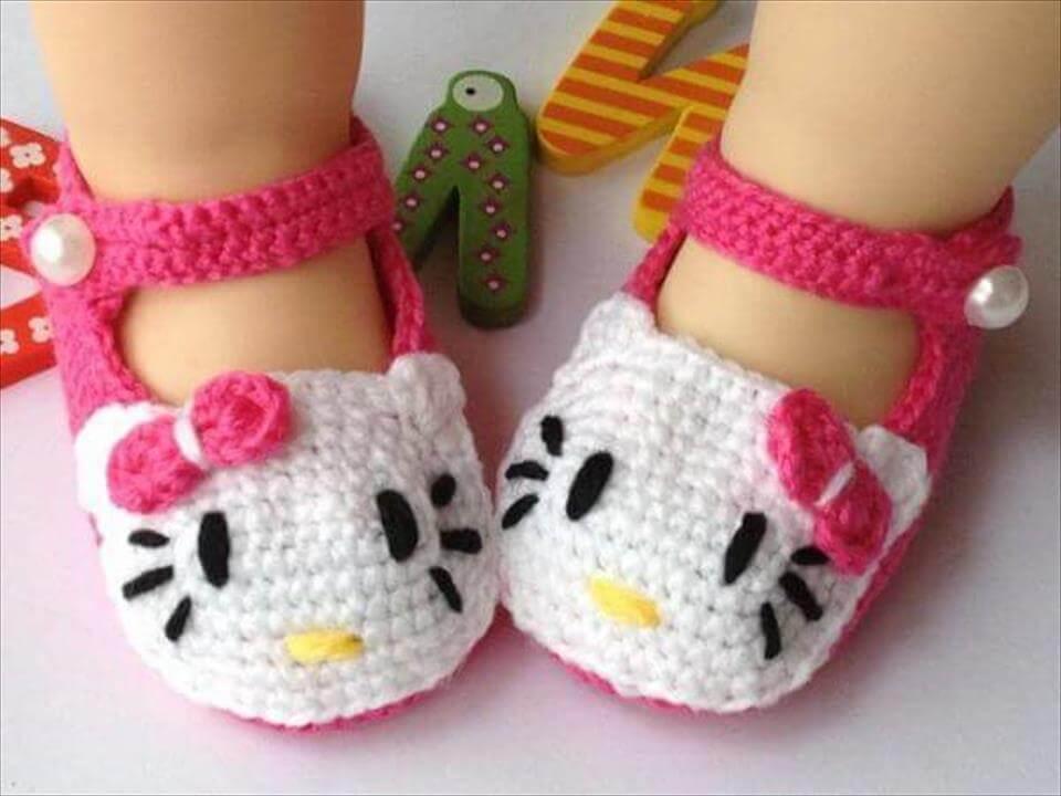 crochet booties free crochet hello kitty baby booties atdtleq