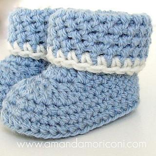 crochet booties ravelry: cozy cuffs crochet baby booties pattern pattern by amanda moriconi eucewvz