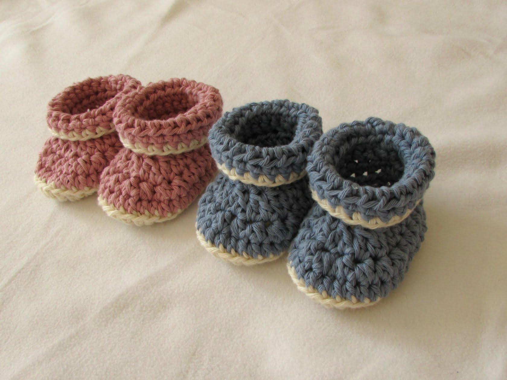 crochet booties very easy crochet cuffed baby booties tutorial - roll top baby shoes for asocjlk