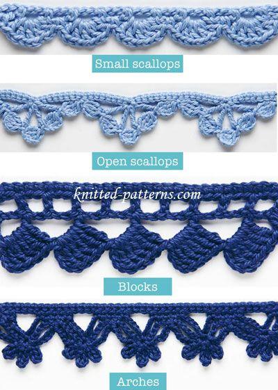 Crochet borders 20 + crochet free edging patterns you should know | crochet edgings, bfgieli