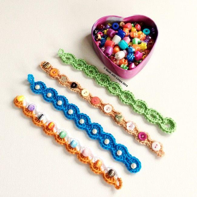 crochet bracelet a little crochet arm candy | made with loops tutorial ༺✿ƭɽღ https:/ egaxpdg