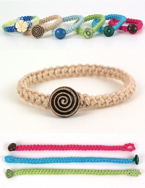crochet bracelet crochet braid bracelet donationware crochet pattern : planetjune shop, cute  and realistic wmleman
