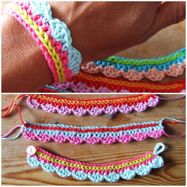crochet bracelet cute crochet bracelets or anklets: photo tutorial (use translate) zgarnoo