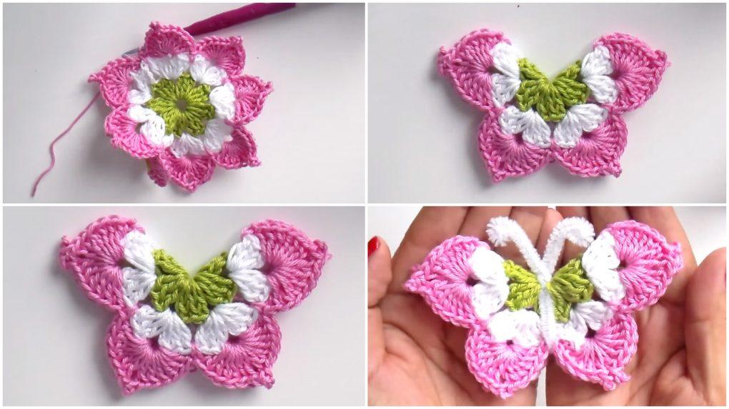crochet butterfly lldkjmf