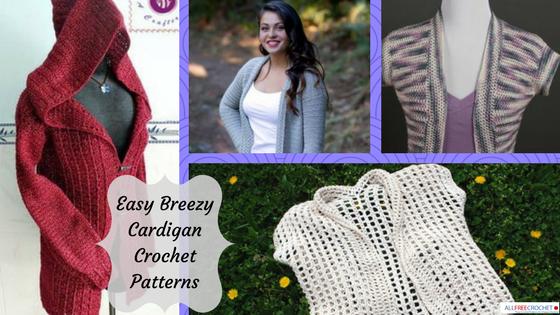 crochet cardigan pattern 40 easy crochet cardigan patterns   allfreecrochet.com cjxwscr