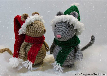 crochet christmas ornaments christmas hat and scarf for mouse crochet ornaments found in our free ebook poqrahq