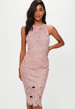 crochet clothing pink crochet lace midi dress pink crochet lace midi dress pazkqsu