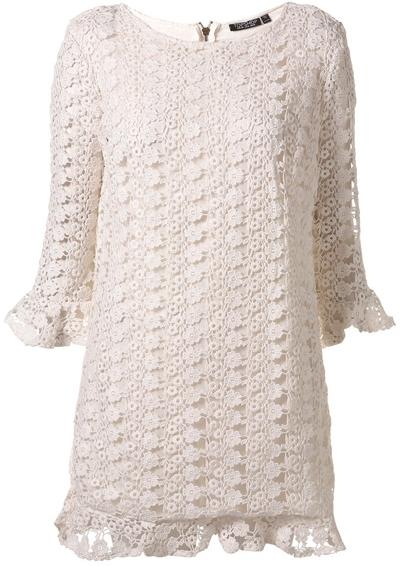 crochet clothing topshop all over crochet shift dress tpnmyaa
