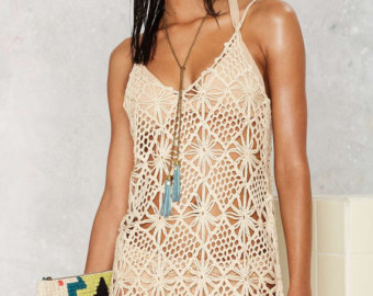 crochet cover up pattern, trendy beach cover up pattern, detailed  instructions in lnujmjj