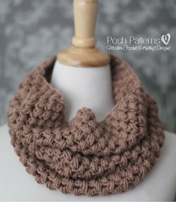 crochet cowl pattern puff stitch cowl crochet pattern laadcox