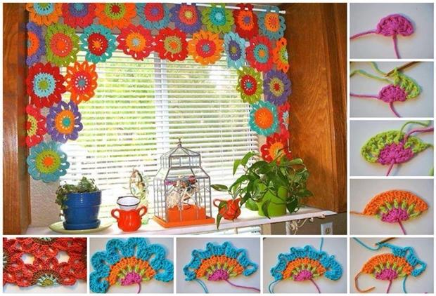 Crochet Curtains bright and beautiful homemade crochet flower curtain ysohasn