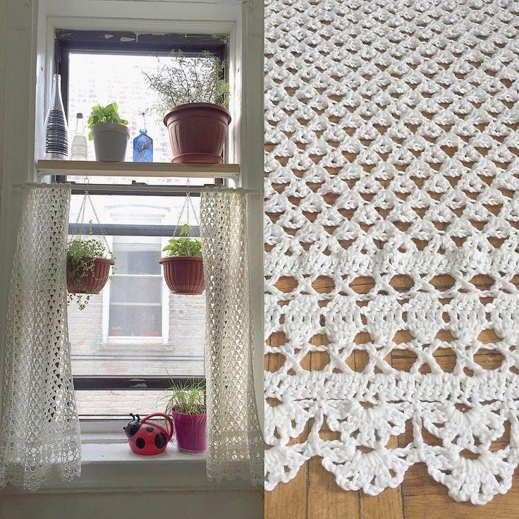Crochet Curtains #crochet #curtain #cortina #ganchillo udddvcy