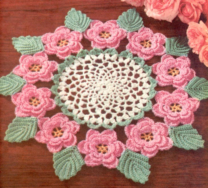 crochet designs new-crochet-designs-1950-u0027s-irish-rose-doily- ybfdqgl