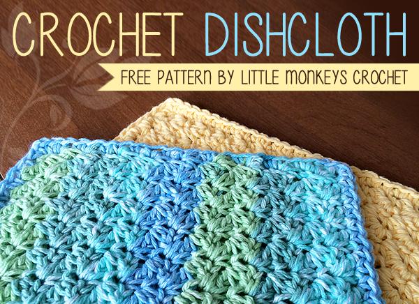 crochet dishcloth dishcloth free crochet pattern | little monkeys crochet | little monkeys  crochet aolrctt