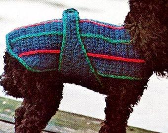 crochet dog sweater vintage crochet pattern instant download gewzulu