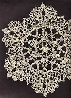 crochet doilies ravelry: lacy six point doily pattern by cheri mancini - free pattern - awcydep