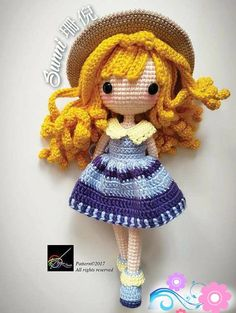 crochet doll pattern - sunni 珊倪 to buy zqasnqe