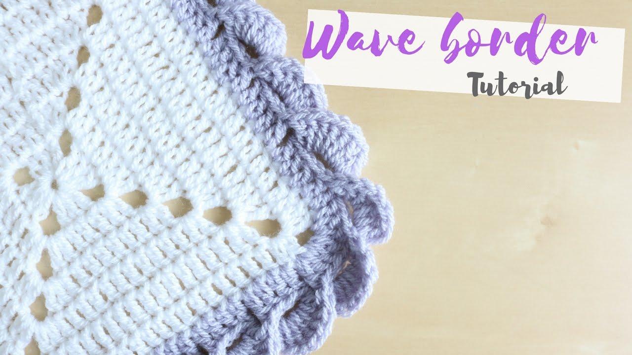 crochet edging crochet: wave border tutorial | bella coco - youtube xzyxnjt