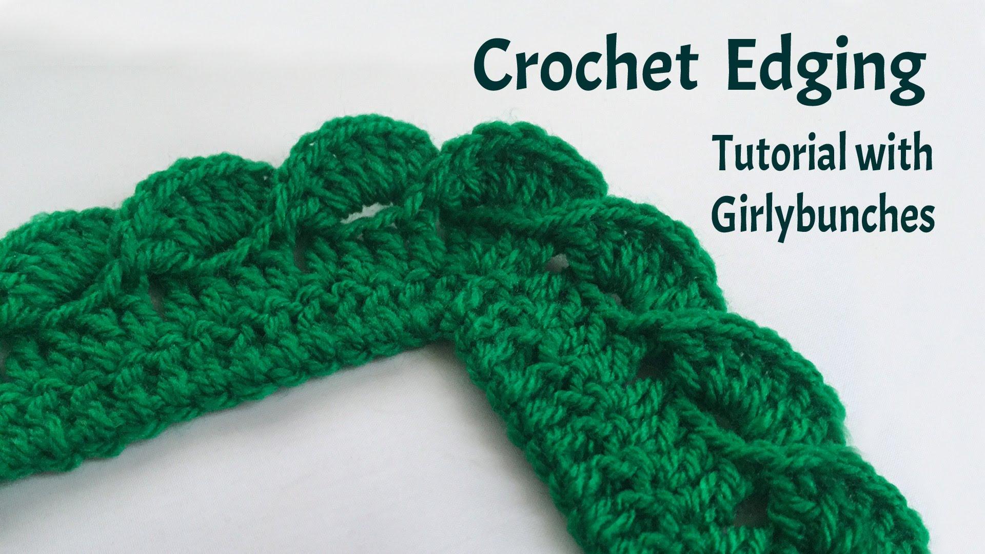 crochet edging crochet wave fan edging - tutorial | girlybunches - youtube qxnnukk